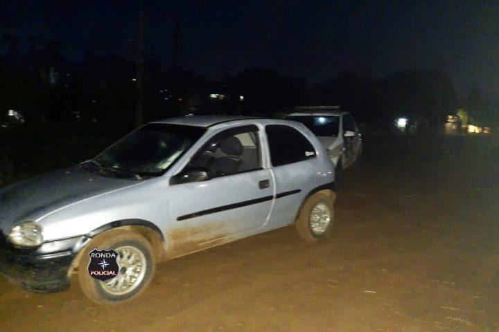 PM localiza e prende jovens que tomaram de assalto veículo durante a madrugada em Ipuaçu