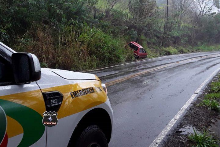 Motorista fica ferido em acidente no interior de Lajeado Grande