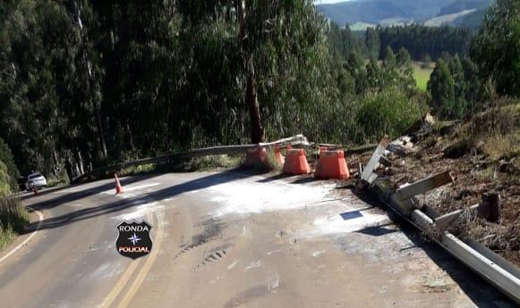 Liberado trânsito entre Passos Maia a Ponte Serrada