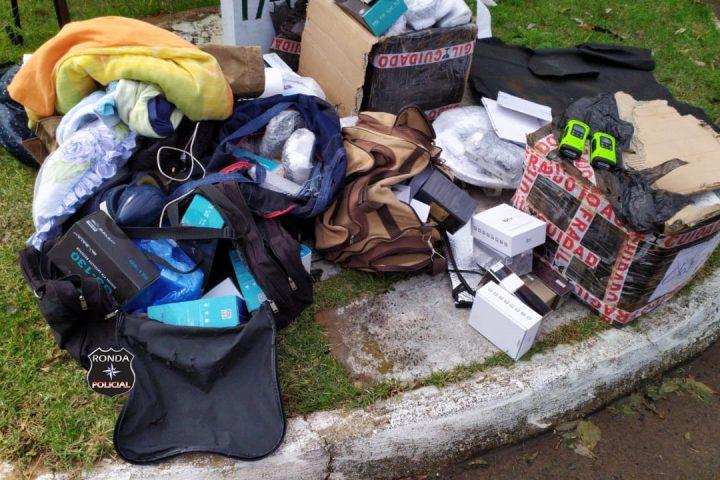 Polícia Rodoviária Estadual realiza apreensão de mercadorias contrabandeadas no Oeste