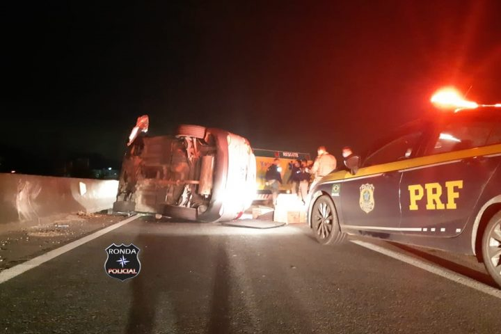 Traficante capota veículo após cerca de 100 km de fuga da PRF