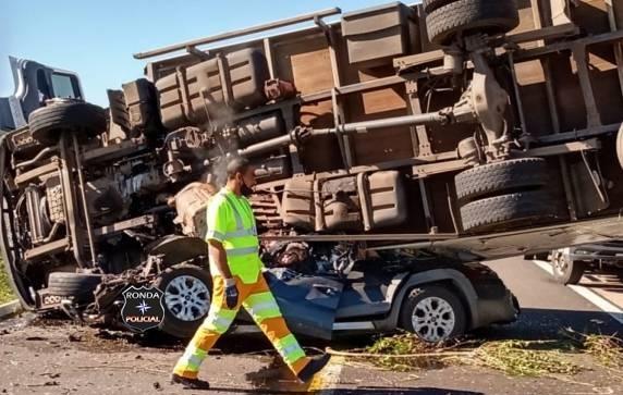 Morre segunda vítima de grave acidente registrado no RS envolvendo caminhão de Cordilheira Alta