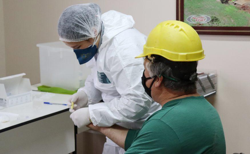 São Domingos inicia testagem da Covid-19 nas empresas