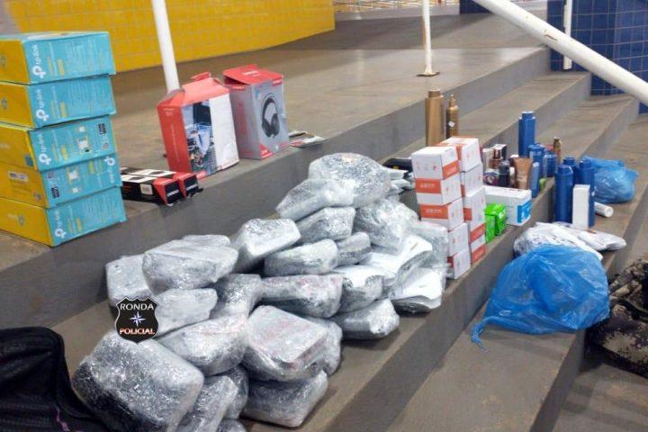 PRF apreende carregamento de eletrônicos e perfumaria contrabandeados no Oeste