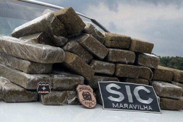 Jovem é preso com 24 kg de maconha trazidas do Paraná para o Oeste