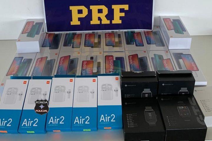 PRF apreende periféricos de informática e celulares contrabandeados