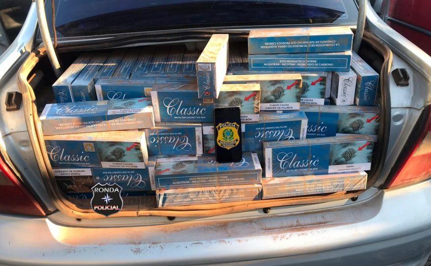 PRF apreende mais um carregamento de cigarros contrabandeados do Paraguai