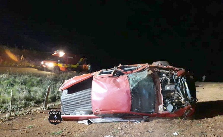 Motorista morre em capotamento de veículo no Oeste