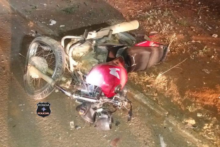 Jovem motociclista morre em grave acidente no Bairro Nossa Senhora Aparecida