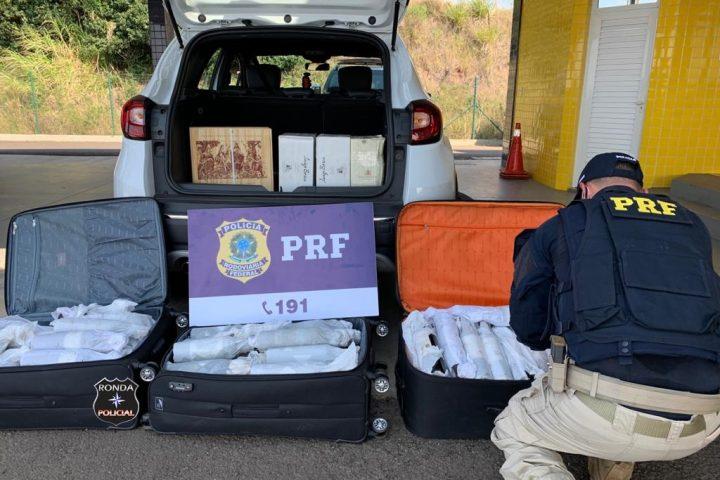 PRF apreende 171 garrafas de vinho argentino sem o desembaraço aduaneiro