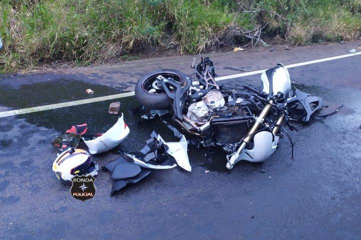 Identificado motociclista que morreu em grave acidente registrado na SC-157