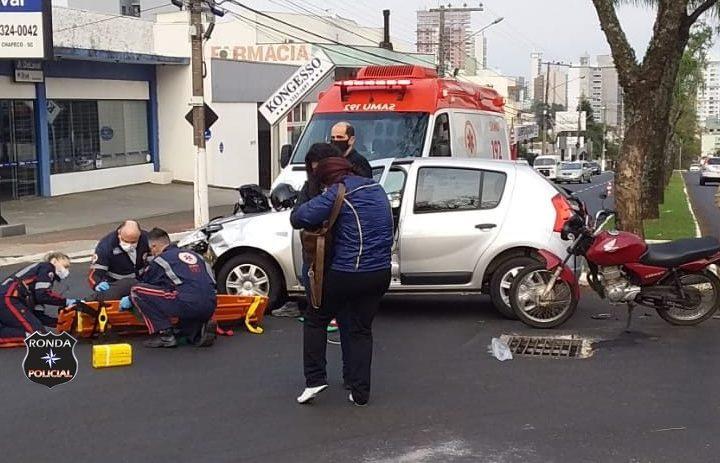 Homem fica gravemente ferido em acidente