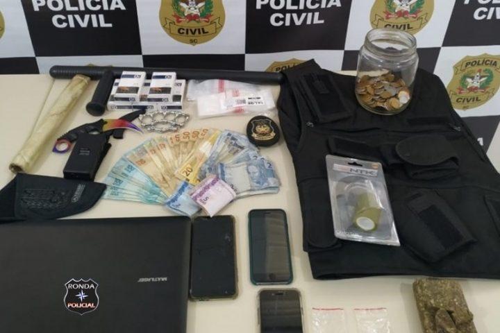 Homem investigado por tentativa de homicídio é preso com drogas