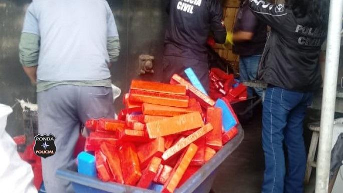850 kg de maconha são incineradas no Oeste