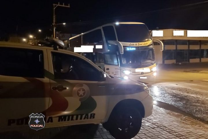 Cão da Polícia Militar encontra maconha em ônibus no Oeste