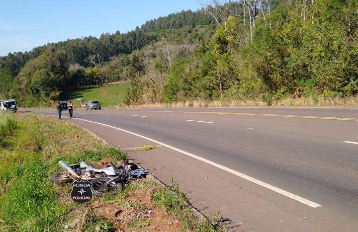 Motociclista morre em grave acidente registrado no Oeste