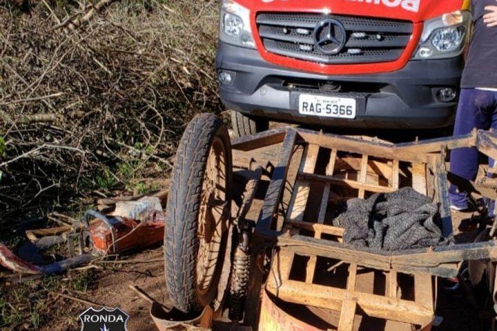 Idoso morre em acidente com motocicleta no Oeste