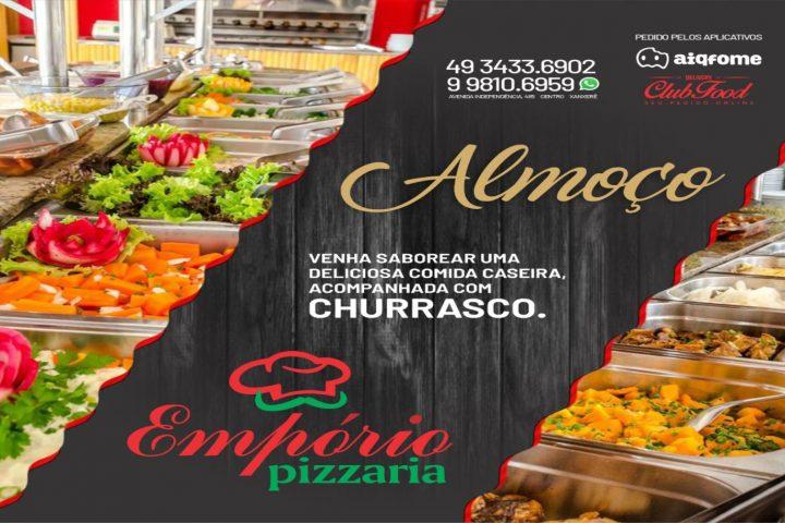 Almoço variado e bom atendimento esperam por você todos os dias na Empório Restaurante e Pizzaria