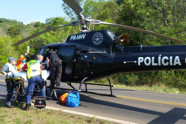 Motociclista sofre graves ferimentos em acidente na SC-283