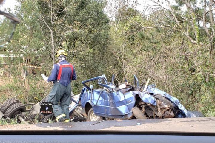 Grave acidente deixa trânsito lento na 282 em Ponte Serrada