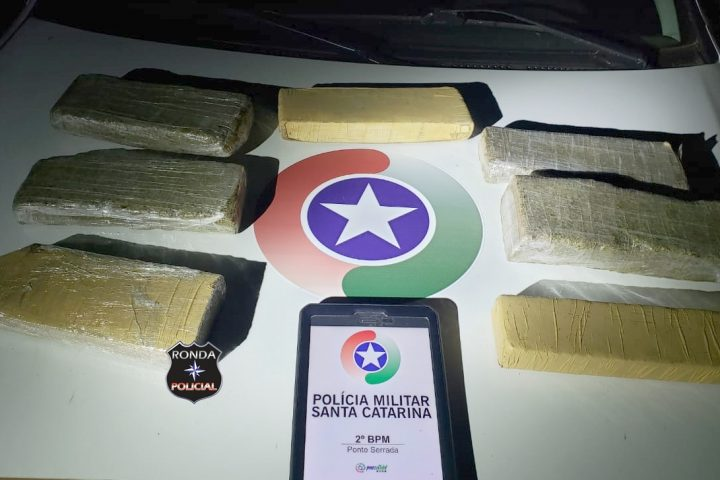Idoso é preso em flagrante com mais de 5 kg de maconha em Ponte Serrada