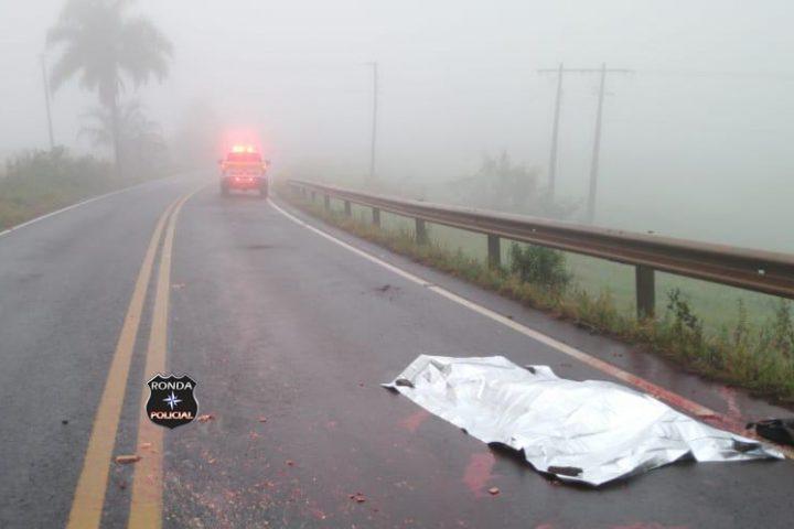 Identificada vítima de atropelamento registrado durante a madrugada na SC-480