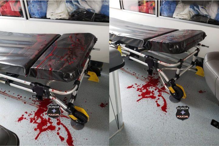 Jovem é encaminhado em estado grave ao hospital de Xanxerê após ser agredido a golpes de faca no pescoço