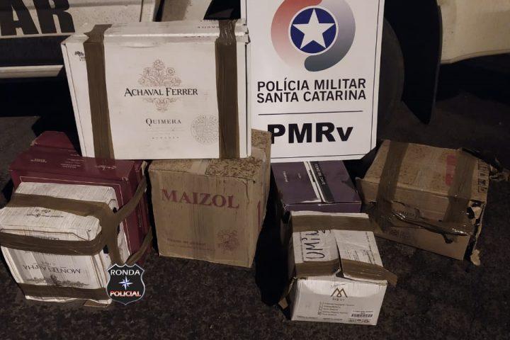 Polícia Militar Rodoviária Estadual apreende carregamento de vinho contrabandeado