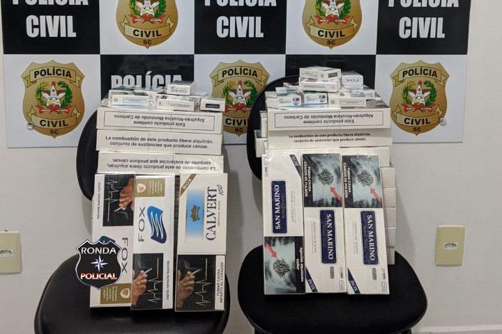 Polícia Civil apreende cigarros contrabandeados do Paraguai