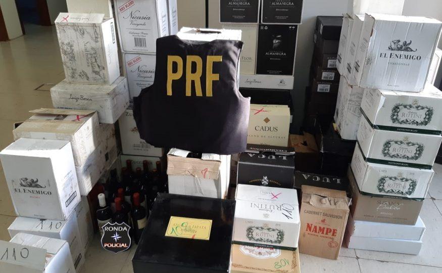 PRF apreende R$ 168 mil em vinhos importados irregularmente