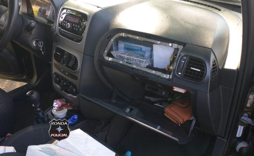 PRF apreende 60 celulares e outros eletrônicos em fundo falso de veículo na BR-282