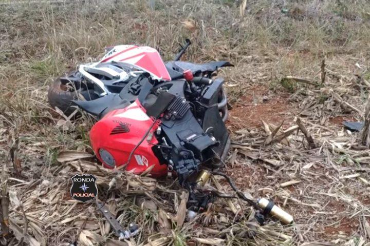 Moto de Abelardo Luz fica destruída e piloto tem corpo partido ao meio em grave acidente neste feriado da Independência