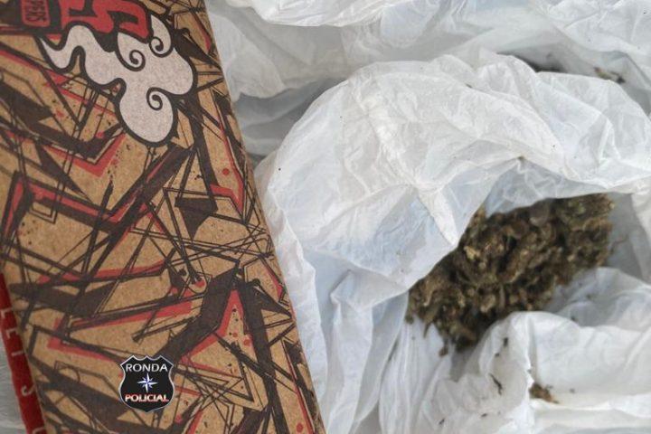 Polícia Militar apreende drogas com jovens no Oeste