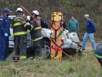 Duas pessoas ficam gravemente feridas em acidente na BR-282