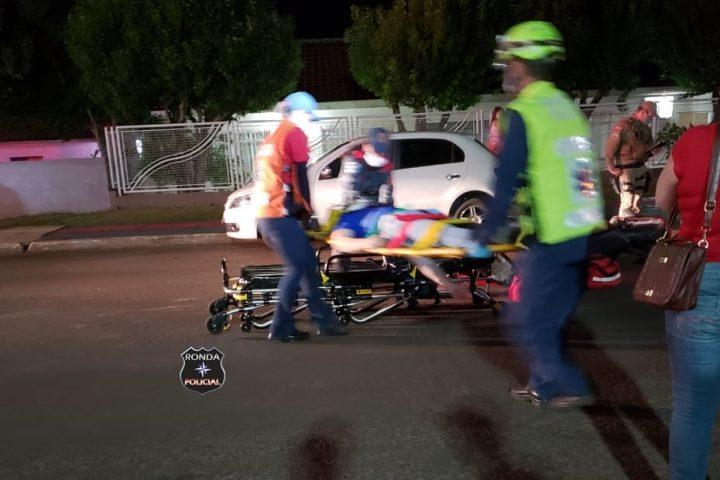 Três pessoas ficam feridas em grave acidente registrado no Bairro Bortolon em Xanxerê