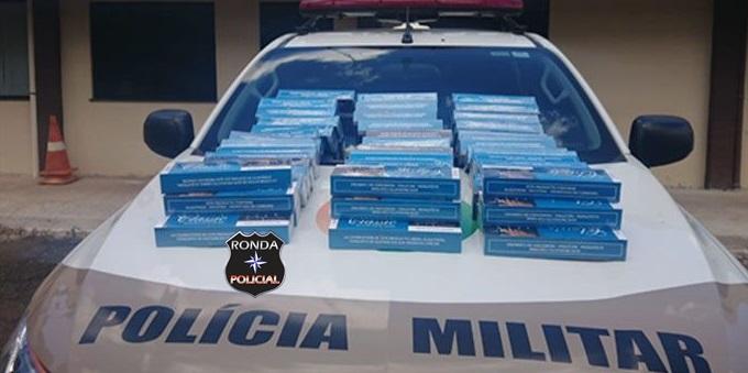 Polícia Militar apreende mais de mil carteiras de cigarros contrabandeadas