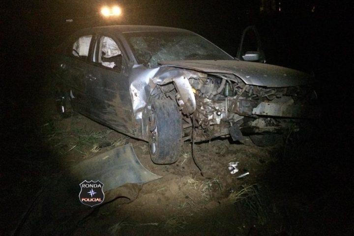 Gestante e duas crianças ficam feridas em acidente