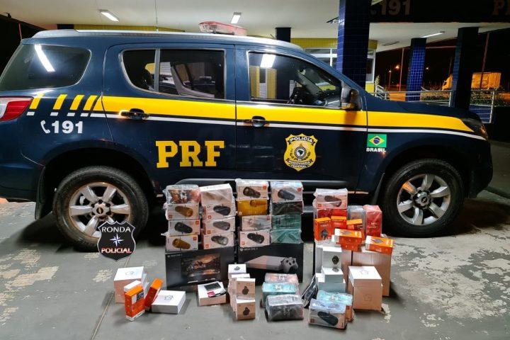 PRF apreende R$ 45 mil em eletrônicos importados ilegalmente