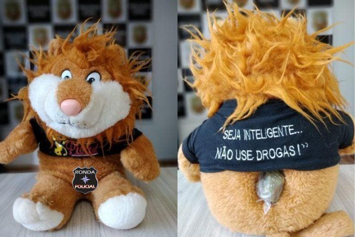 Droga é encontrada pela Polícia Civil em mascote de pelúcia do Proerd