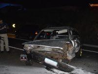 Carro fica destruído em grave acidente na BR-282 em Xanxerê