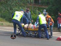 Motociclista fica ferido em acidente na BR-282 em Xanxerê