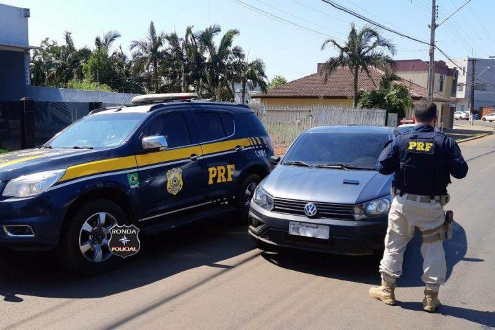 PRF recupera veículo furtado com placa clonada