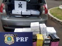 PRF apreende em Xanxerê carregamento vinhos importados ilegalmente