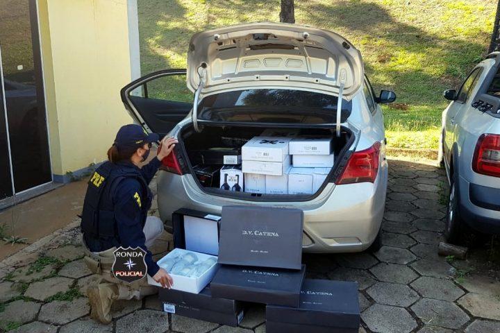 PRF apreende carregamento de vinho importado ilegalmente na BR-282