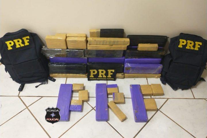 PRF apreende cerca de 30 kg de maconha no Oeste