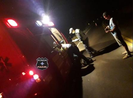 Acidente deixa motociclista ferido no Oeste