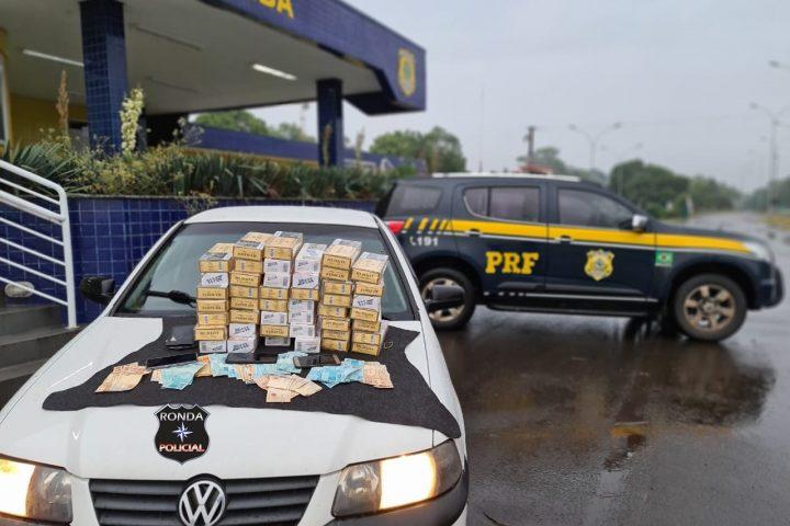 Contrabandista de cigarros é preso ao tentar subornar policiais na BR-282