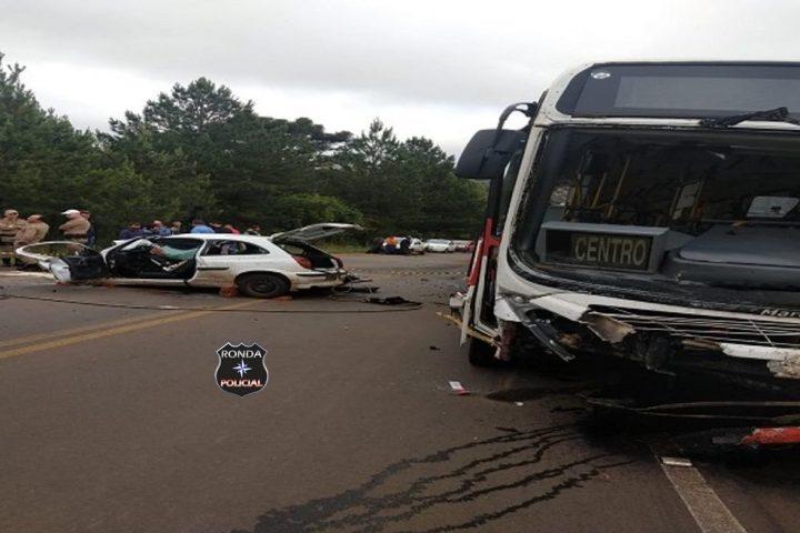 Grave acidente deixa uma pessoa morta e outras três feridas