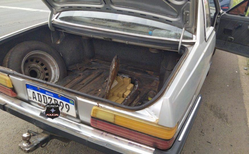 PRF apreende mais um carregamento de maconha escondido em fundo falso de veículo