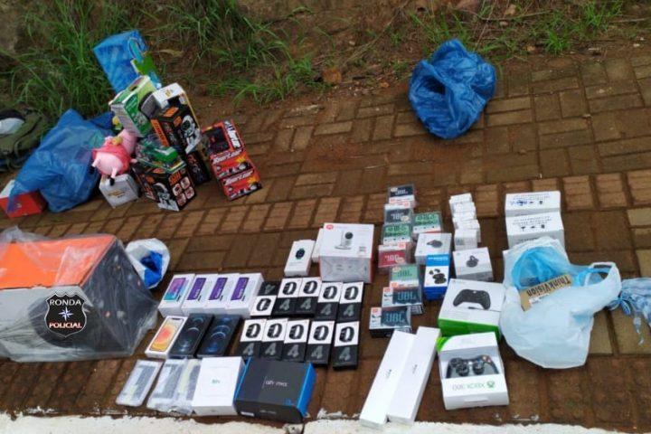 Mercadoria contrabandeada avaliada em aproximadamente R$ 50 mil é apreendida pela PM